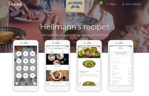 Ask your food delivery from Quiqup app to have fresh ingredients and tasty recipes from Hellmann's